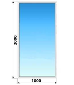 Глухое пластиковое окно 1000x2000