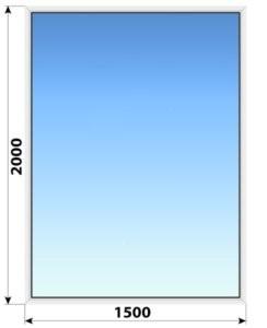 Глухое пластиковое окно 1500x2000