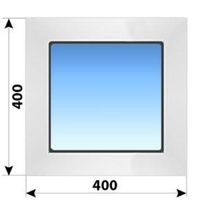 Глухое пластиковое окно 400x400