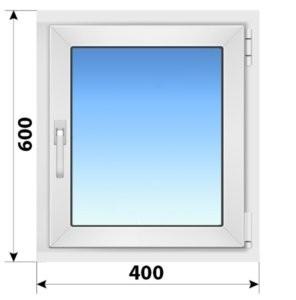 Поворотное пластиковое окно 400x600