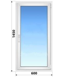 Поворотное пластиковое окно 600x1450
