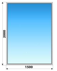 Глухое алюминиевое окно 1500x2000