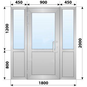 Холодная алюминиевая входная группа 1800x2000